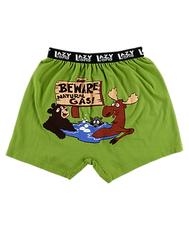 """Beware of Natural Gas"" Lazy One Men's Boxers"