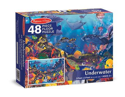 48 Piece Melissa & Doug Underwater Floor Puzzle