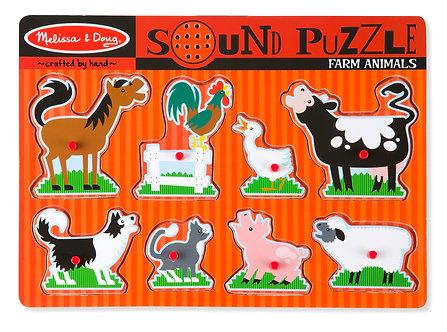 8 Piece Melissa & Doug Farm Animal Sound Puzzle