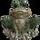 Medium Sitting Frog Figurine by Gerson