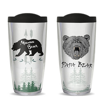 Mama or Papa Bear Thermal Insulated Tumbler Cups