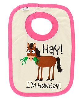 Hay! I'm Hungry! Horse Bib by Lazy One