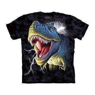 """Lightning Rex"" T-Rex Dinosaur YouthT-Shirt by The Mountain"