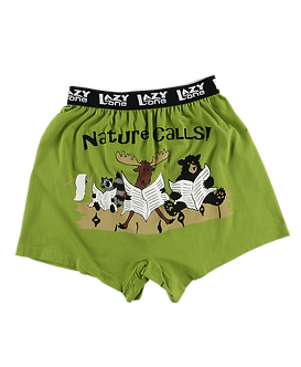 """""""Nature Calls""""Lazy One Men's Boxers"""