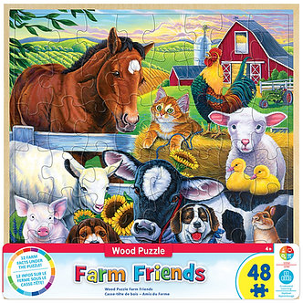 48 Piece FarmFriends Jigsaw Puzzle by MasterPieces