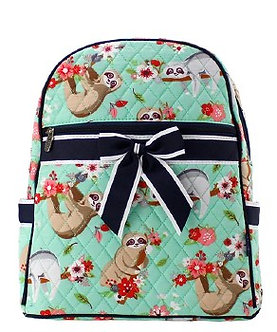 Sloth Quilted Backpack by NNK Creations
