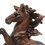 Rearing Brown Horse Figurine