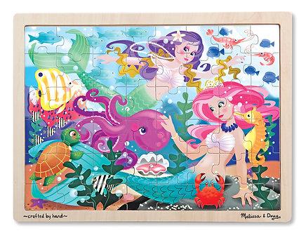48 Piece Melissa & Doug Mermaid Fantasea Wooden Jigsaw Puzzle