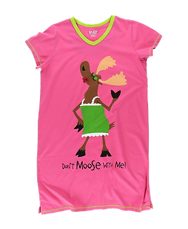 """""""Don't Moose With Me"""" Moose Lazy One Nightshirt"""