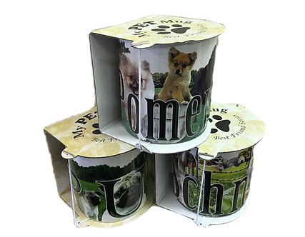 18 oz Dog Breed Stoneware 3-D Mugs/cups