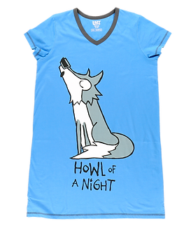 """Howl of a Night"" Wolf Lazy One Nightshirt"