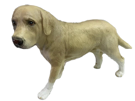 Yellow Labrador Dog Figurine by Melrose