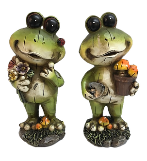 Standing Buggy Eye Frog Figurine by Gerson