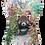 Beaded Red Panda V-Neck Shirt by Sweet Gisele