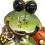 Leaning Buggy Eye Frog Figurine by Gerson