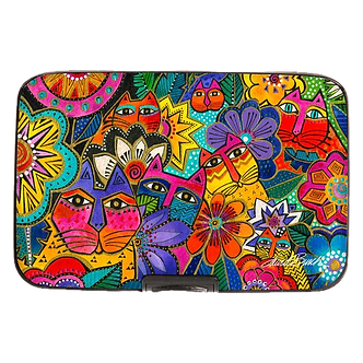 "Laurel Burch ""Laurel's Garden"" Cat Armored Wallet by Monarque"