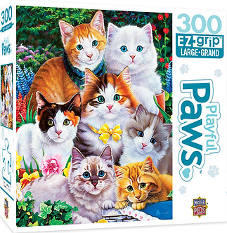 """300 Piece Playful Paws """"Puuurfectly Adorable"""" Cat Jigsaw Puzzle by MasterPieces"""