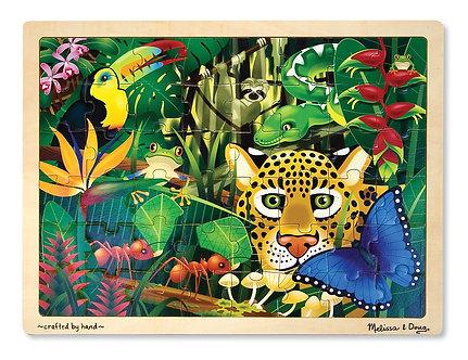 48 Piece Melissa & Doug Rain Forest Wooden Jigsaw Puzzle