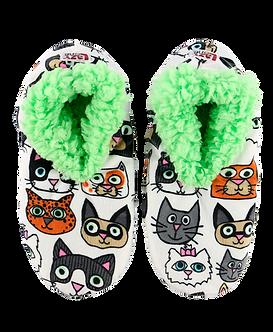 """Catitude"" CatLazy One Fuzzy Feet Slippers"