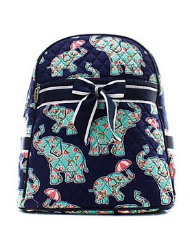 Elephant Quilted Backpack by NNK Creations