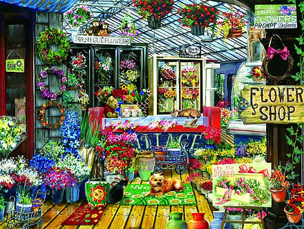 "500 Piece Jigsaw Puzzle by SunsOut ""Fresh Cut Flowers"""