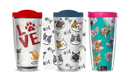 Cat/Kitten Thermal Insulated Tumbler Cups