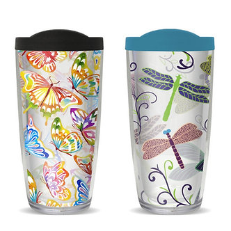 Butterflies or Dragonflies Thermal Insulated Tumbler Cups