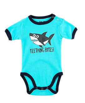 Teething Bites Shark Baby Onesie by Lazy One