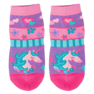 Unicorn Face Toddler Socks by Stephen Joseph