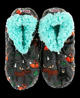 """Born Wild"" Fox/Moose/BearLazy One Fuzzy Feet Slippers"