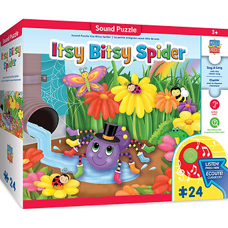 24 Piece Sing-A-Long Itsy Bitsy Spider Sound Floor Puzzle
