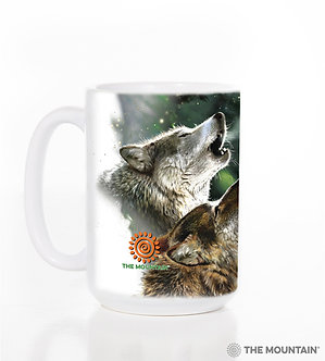 Three Wolf Moon Ceramic Coffee Cup/Mug by The Mountain