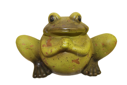 Large Sitting Frog Figurine by Gerson