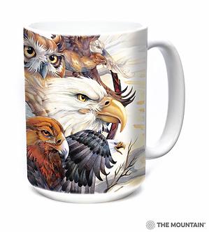 Sky Kings Eagle/Owl/Hawk Ceramic Coffee Cup/Mug by The Mountain