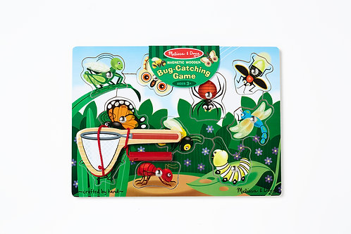 10 Piece Melissa & Doug Wooden Magnetic Bug Catching Game/Puzzle​​​​​​​