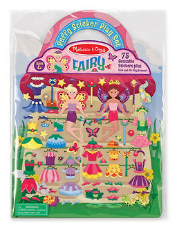 Melissa & Doug Fairies Reusable Puffy Sticker Play Set
