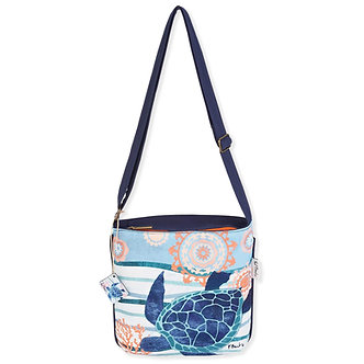 """Seaside Treasures"" Sea Turtle Crossbody Purse"