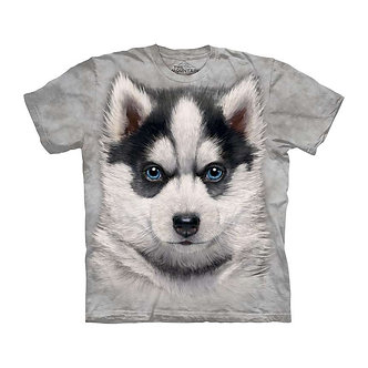 """Siberian Husky Puppy"" Adult T-Shirt by The Mountain"