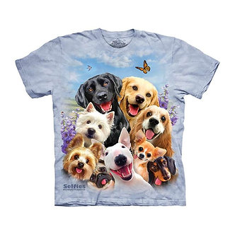 """Dogs Selfie"" Youth T-Shirt by The Mountain"
