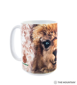 Llama Ceramic Coffee Cup/Mug by The Mountain