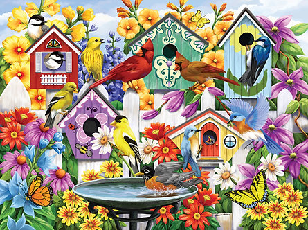 "1000 Piece Bird Jigsaw Puzzle by SunsOut ""Garden Neighbors"""
