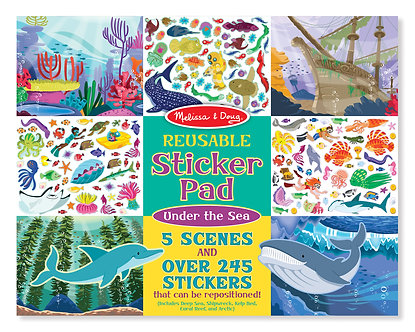 Melissa & Doug Under the Sea Reusable Sticker Activity Pad