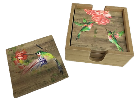 Hummingbird Coasters by Ganz