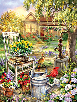 "500 Piece Bird Jigsaw Puzzle by SunsOut ""Spring Song"""