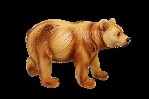 "Large ""Wooden"" Bear Figurine"