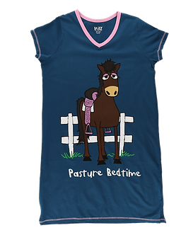 """Pasture Bedtime"" Horse Lazy One Nightshirt"