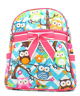 Owl Quilted Backpack by NNK Creations