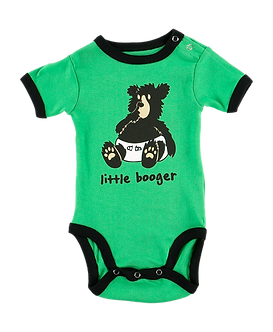 Little Booger Bear Baby Boy Onesie by Lazy One