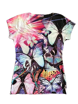 Butterfly V-Neck Shirt by Sweet Gisele