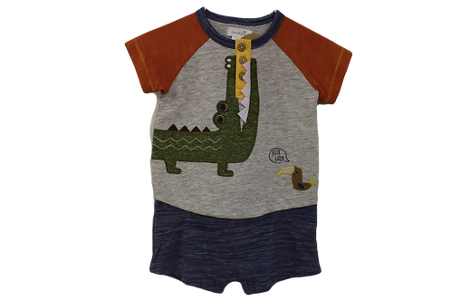 Alligator Baby Romper by Mudpie